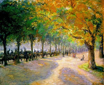 London Art - hyde park london 1890 Camille Pissarro scenery