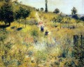 path through the high grass Pierre Auguste Renoir scenery