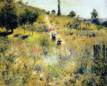 Pierre Works - path through the high grass Pierre Auguste Renoir scenery