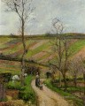 route du fond in hermitage pontoise 1877 Camille Pissarro scenery