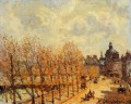 the malaquais quay in the morning sunny weather 1903 Camille Pissarro scenery