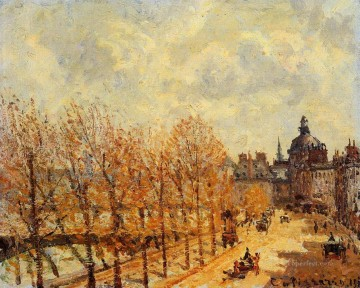 the malaquais quay in the morning sunny weather 1903 Camille Pissarro scenery Oil Paintings