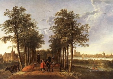 The Avenue At Meerdervoort countryside scenery Aelbert Cuyp Oil Paintings