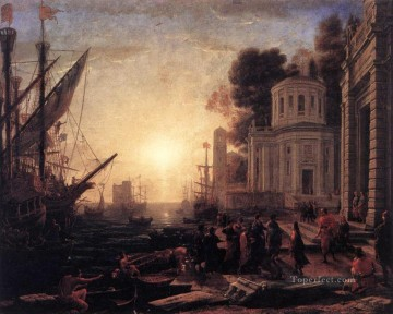 Lorrain Art Painting - The Disembarkation of Cleopatra at Tarsus landscape Claude Lorrain