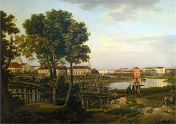 View from Petrovsky island in St Petersburg Sylvester Shchedrin landscape Oil Paintings