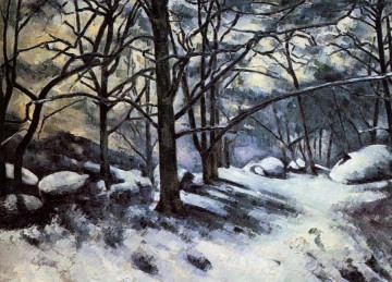 Snow Painting - Melting Snow Fontainbleau Paul Cezanne