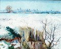 Snowy Landscape with Arles in the Background 2 Vincent van Gogh