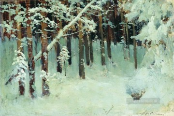 forest in the winter Isaac Levitan snow landscape Oil Paintings