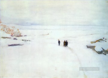 the winter rostov the great 1906 Konstantin Yuon snow landscape Oil Paintings