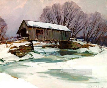 sn018B impressionism scenery snow Oil Paintings