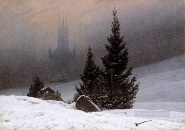 Snow Painting - snow Landscape 1811 Romantic Caspar David Friedrich