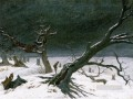 snow Landscape 1812 Romantic Caspar David Friedrich
