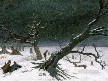 Snow Painting - snow Landscape 1812 Romantic Caspar David Friedrich