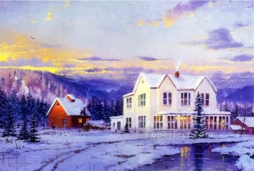 yx023jE impressionism scenery snow Oil Paintings