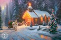 Christmas Chapel I Thomas Kinkade winter