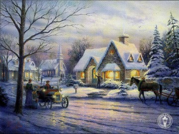 Memories of Christmas Thomas Kinkade winter Oil Paintings