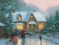 Skater Pond Thomas Kinkade winter