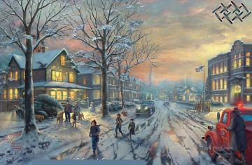 A Christmas Story Thomas Kinkade winter Oil Paintings
