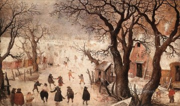 Snow Painting - snow Landscape 3 Hendrick Avercamp