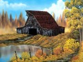 rustic barn Style of Bob Ross