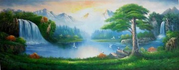 Fairyland Style of Bob Ross Oil Paintings