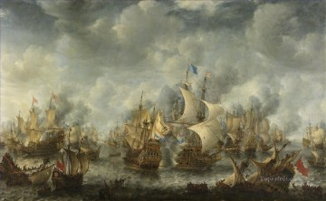 Battle of Scheveningen Slag bij Ter Heijde Jan Abrahamsz Beerstraten Sea Warfare Oil Paintings