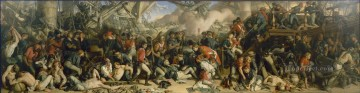 Daniel Maclise The Death of Nelson Naval Battle Oil Paintings