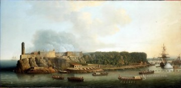 Dominic Serres the Elder The Capture of Havana 1762 The Morro Castle and the Boom Defence Before the Attack Oil Paintings
