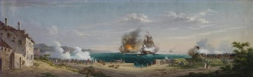 Eckernfoerde Das Seegefecht von Eckernforde by Anton Nissen Naval Battle Oil Paintings