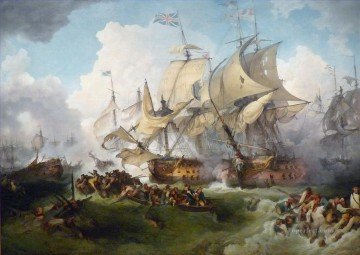 Loutherbourg La Victoire de Lord Howe Naval Battle Oil Paintings