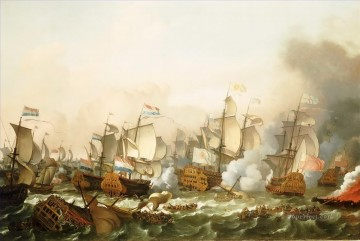 Ludolf Bakhuizen The Battle of Barfleur 1692 Sea Warfare Oil Paintings