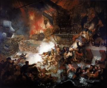 Mather Brown Battle of the Nile Naval Battle Oil Paintings