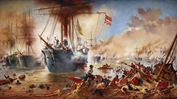 Palacio Pedro Ernesto Batalha do Riachuelo c0pia Naval Battle Oil Paintings