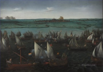 Vroom Hendrick Cornelisz Battle of Haarlemmermeer Naval Battle Oil Paintings