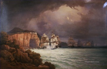 Combat du Romulus Naval Battle Oil Paintings