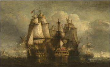 Hendrik Frans Schaefels Siege of Flushing by an English squadron Naval Battle Oil Paintings