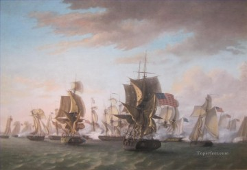 Warship Painting - Perrys Victory on Lake Erie by Thomas Birch 1814 Sea Warfare