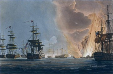 Warship Painting - Battle of the Nile Whitcombe Naval Battle