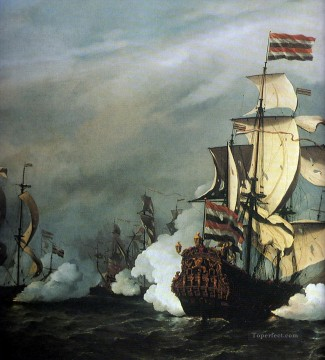 Battle of theTexel Naval Battle Oil Paintings