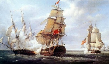Warship Painting - Canonniere Naval Battle