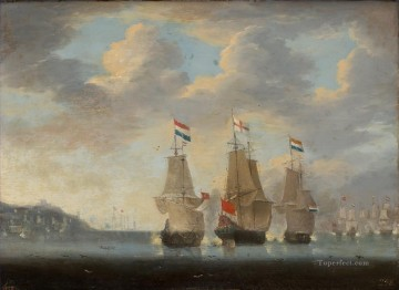 Combate naval Museo del Prado Naval Battle Oil Paintings