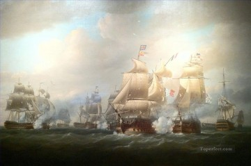 Naval Canvas - Duckworth s action off San Domingo 6 February 1806 Nicholas Pocock Naval Battle