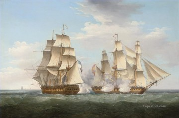 Ethalion with Thetis Naval Battle Oil Paintings