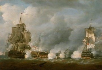 Warship Painting - Pocock Glorious Naval Battle