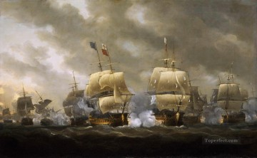 Quibcardinaux Naval Battle Oil Paintings