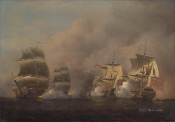 Warship Painting - Samuel Scott Action off the Cape of Good Hope Naval Battle