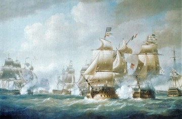 Santodomingo Naval Battle Oil Paintings