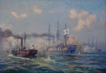 Seegefecht bei Jasmund Naval Battle Oil Paintings