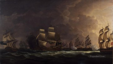 Warship Painting - Serres Cape St Vincent Naval Battle