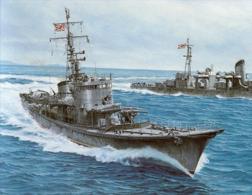 battleship warship war ship Painting - Subchaser warships